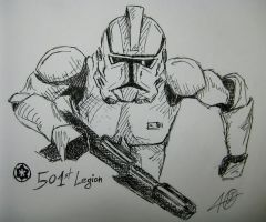 501st Legion Clone Trooper by NGC-7293