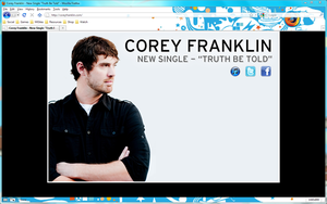 Corey Franklin Website by MegaJohnnyLeft