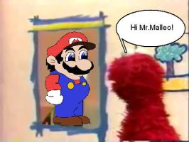 Malleo In Elmo's World by NinSeMarvel