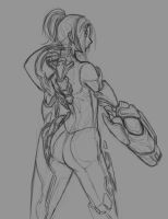 samus aran sketch by ChibiFlix
