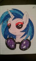 Vinyl Scratch No Glasses by MaybyAGhost