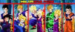 Gohan Supersaiyajin Evolutions by gonzalossj3