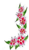 Pink Flowers Bookmark by RoninReaver