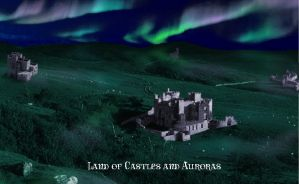 Land of Castles and Auroras by LittleFireDragon