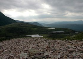 Climbing Gros Morne 4 by LucieG-Stock