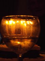Candles Through The Glass by Moka898