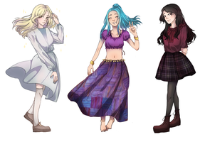 commission girls by Lilac-Patal