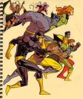 Retro X-men by wannabegeorge