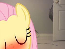 Fluttershy why your face cover red and- OMG by luisbonilla