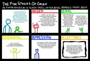 5 Stages of Grief by whitegryphon