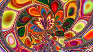 Psychedelic Peacock by wolfepaw