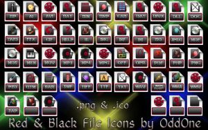 File Icons Red-Black Theme by 0dd0ne