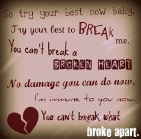 Cant break a broken heart.. by Pebblerocker101