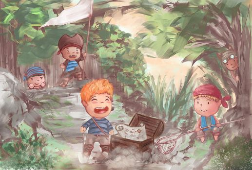 Adventure illustrated journey of the children by transydang94