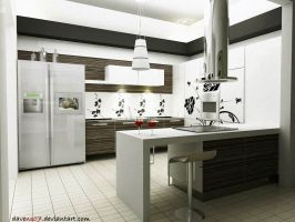 kitchen white by davens07