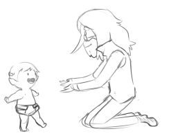 Baby Marcy's first steps by Snowflake-owl