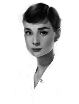 Audrey Hepburn by sarucatepes
