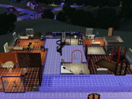 Sims 3 kh house overall view second floor by TheeKozakura