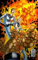 Fantastic 4 color test by UlissesBruno