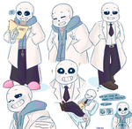 Scientist Sans by chaoticshero