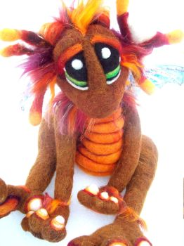 Cinnamon Spice Dragon Pup by Tanglewood-Thicket
