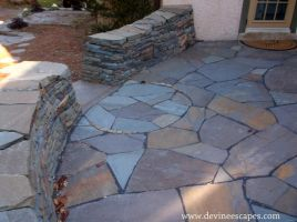 Chester Springs, Flagstone Patio by Devine-Escapes