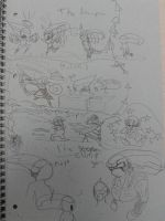 AvPvDBZ - Doodle with Wario and Wario-Man by Queen-Koopa
