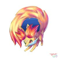 Fennekin as Firefox logo 2 by MellowMeloetta