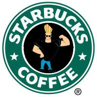 Johnny Bravo Starbucks Logo by henryt93