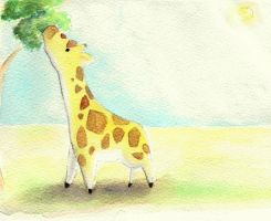 Giraffe at Lunchtime by Scunosi