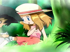 Pokemon XY Anime: Ash and Serena by Minorkrama