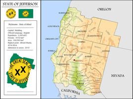 Map of the State of Jefferson by Coliop-Kolchovo