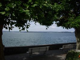 Bench on the Bodensee by B1GGzZ