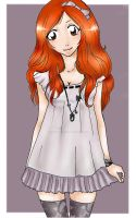 Pretty in Periwinkle:. Orihime by murasakihasu803