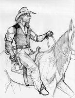 Daily Sketch - The Cowboy by Anmph