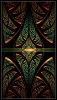 Reptilian Stained Glass by Ravenfire711