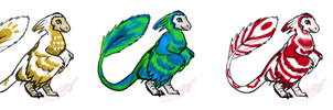 Cute Microraptor adoptable CLOSED by Domisea