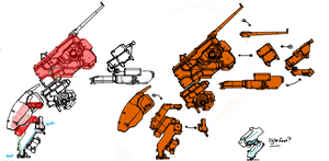 Walking Tank WT4 sideview by Daemoria