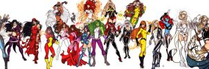 Marvel Divas Take 7 by CrimsonArtz
