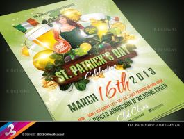 St. Patrick's Day Party Flyer Template 2 by AnotherBcreation