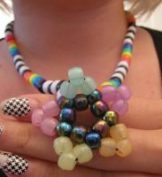 Kandi Star Necklace by RanebowStitches