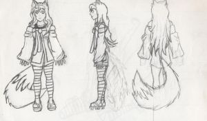 Kitsune-chan ref sheet by Experiment07