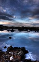 Blue lagoon sunrise 3 by monkeyheadmushroom