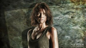 TWD: Maggie Greene: Anisotropic Paint Desktop by nerdboy69