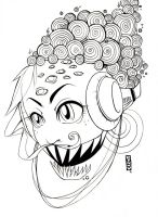 Murakami Face +Outline+ by b-inky