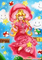 Princess Peach by KuroNeko-art
