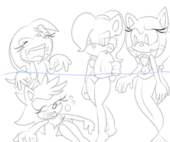 Lineart: You're Funny by SonicStaryFan