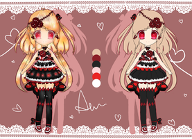 [ADOPTS] Red and Black - CLOSED by Aeuri