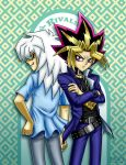 Bakura and Yami: Rivals by Red-Flare