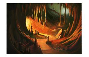 Cave of fire by skelefriend